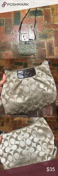 d7578734df0 Shop Women s Coach Brown Tan size OS Crossbody Bags at a discounted price  at Poshmark. Small but will hold a lot.