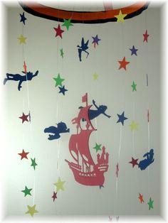 Peter Pan Nursery Mobile Star Mobile Nursery by lovebirdslane