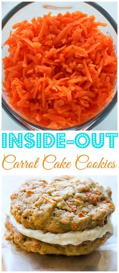 Inside-Out Carrot Cake Cookies - like carrot cake in a cookie!!!