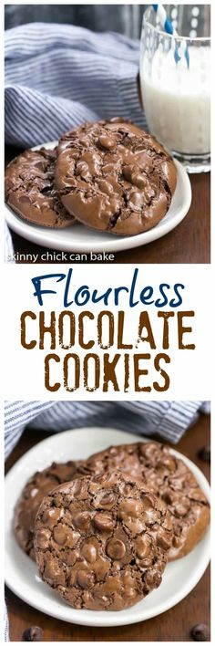 Flourless Chocolate Cookies | Dark, delectable and chewy!! @lizzydo