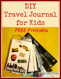 Documenting geography lessons learned during a family trip does not have to be dull and boring!  We have created a fun and easy way to capture learning and memories with this DIY Travel Journal for Kids.