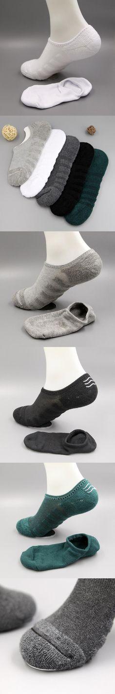 Brand 1 Pairs Men Warm Soft Casual No ShowCotton Socks Breathable Socks Solid Color Fashion Hot Sale Miesten sukat #DD
