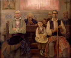 José Benlliure. Misa en la ermita. Óleo sobre lienzo. 96 x 146. Museo Bellas Artes. Valencia