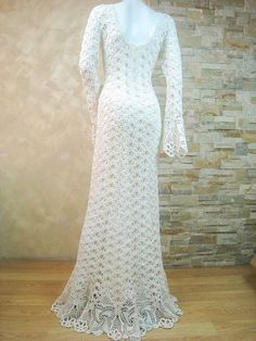 Items similar to Exclusive ivory crochet wedding dress, handmade crochet bride dress, lace bridal dress - the finished product in a single original on Etsy Crochet Wedding Dresses, Lace Wedding Dress, Crochet Lace Dress, Dream Wedding Dresses, Bridal Lace, Knit Dress, Bridal Dresses, Wedding Gowns, Hand Crochet