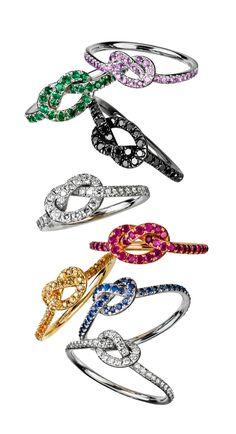 love knot ring rainb