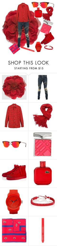 """""""Post valentine's"""" by ornell-olfindo-ricafort ❤ liked on Polyvore featuring Gucci, Philipp Plein, Burberry, Ray-Ban, Christian Louboutin, Lacoste, Diesel, ZADEH, Rodial and men's fashion"""