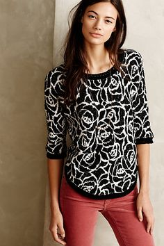 Halfeti Rose Pullover - anthropologie.com #anthrofave