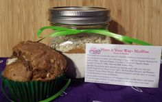 Have It Your Way Muffin Mix - Healthy Food Gifts - Kids Cooking Class
