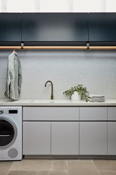 FEATURED PROJECTS — Louise Walsh Laundry Room Doors, Laundry Room Storage, Laundry In Bathroom, Modern Laundry Rooms, Laundry Room Inspiration, Interior Design Business, Laundry Room Design, House On A Hill, Classic Furniture