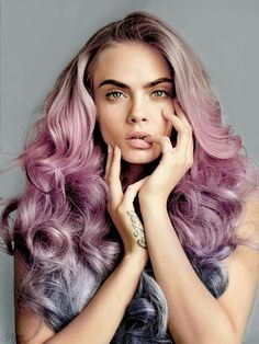 rose quartz and serenity hair--For Maternity Inspiration, Shop here >> http://www.seraphine.com/us