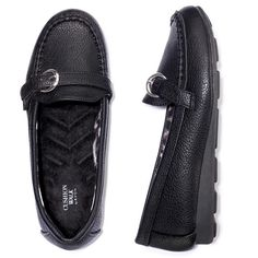 Leatherlike loafer with a cute silvertone buckle detail. Plush Cushion Walk footbed. Regularly $34.99, shop Avon Fashion online at http://eseagren.avonrepresentative.com