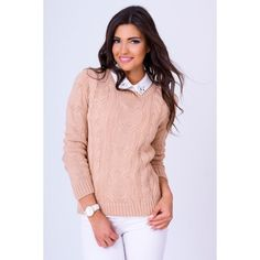 Pletený pulóvrik v béžovej farbe - fashionday.eu Sweaters, Fashion, Colors, Moda, Fashion Styles, Sweater, Fashion Illustrations, Sweatshirts, Pullover Sweaters
