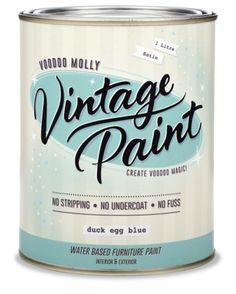 voodoo molly vintage paint easy brush formula not chalk paint Art Furniture, Furniture Makeover, Painted Furniture, Interior Paint, Interior And Exterior, Vintage Paint Colors, Paint Color Chart, Painted Chest, Vintage Mermaid