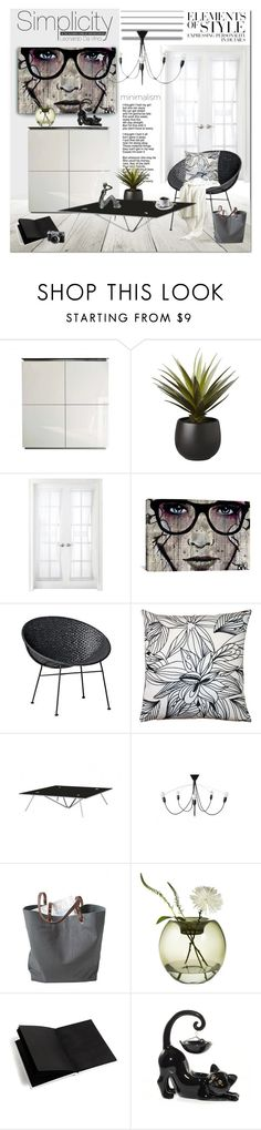 """Elements of Style"" by cruzeirodotejo on Polyvore featuring interior, interiors, interior design, home, home decor, interior decorating, CB2, Royal Velvet, iCanvas and Bloomingville"