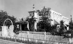 Shirley Temple's Bungalow at 20th Century Fox, 1936.