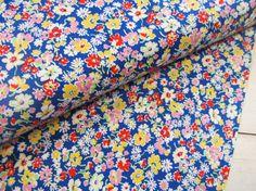 Spielzeug Brust Florals - Wildblumen - Marine Backgound - Sara Morgan - Washington Street Studio - P & B Textiles