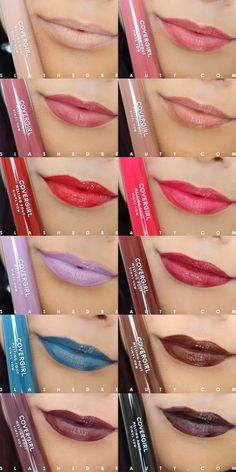 Covergirl Melting Pout Vinyl Vow Lipgloss- would love the two nudes Lipstick Swatches, Makeup Swatches, Lipstick Set, Matte Lipstick, Liquid Lipstick, Lip Gloss Colors, Lip Colors, Lipstick Colors, Best Beauty Tips