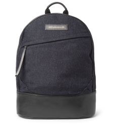 WANT Les Essentiels de la Vie - Kastrup Leather-Trimmed Tweed Backpack $675