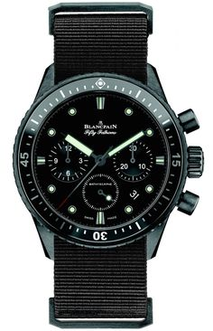 "Blancpain Fifty Fathoms Bathyscaphe Chronograph Flyback Watch - by Maximilien - See more on aBlogtoWatch.com ""Reintroduced last year as a modern incarnation of the famed Blancpain Fifty Fathoms Bathyscaphe of the 50s, which was designed with the proportions and features to provide a tool watch that could also be used outside of diving activities, the Bathyscaphe model is a unique dive watch that looks modern and retro at the same time..."" #ABTWBaselworld2014"