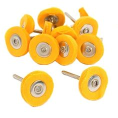 """Driak 20PC Yellow Cotton Polishing Buffing Wheel Brush Fits for Hole Jewelers Dremel Rotary Tools  Material: Cotton  Durable Center,Each measures approximately 1"""" (25 mm  Environmental friendly: rust-proof, no pollution, no radiation, no abnormal smell  Great for:Cleaning,polishing,Buffing,Metal Surfaces,Wood Surfaes,Plastic Surfaces,And Many More.  Used widely in aerospace, plant maintenance, foundry, automotive, metal fabrication and shipyards"""