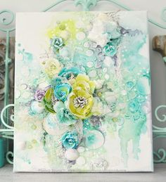Hello!!! This canvas was shared over on the Shimmerz blog yesterday.   I was at our little holiday house by the beach when I created thi...