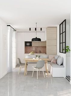 63 choose best color for small kitchen remodel 53 Small Kitchen Remodel Choose Color Kitchen Remodel Small Living Room And Kitchen Design, Small Living Rooms, Interior Design Kitchen, Room Interior, Flat Interior, Apartment Interior, Modern Living, Modern Interior, Design Apartment