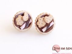 Mini Tarts Stud Earrings Polymer Clay Jewelry Tarts by BiteMeNot