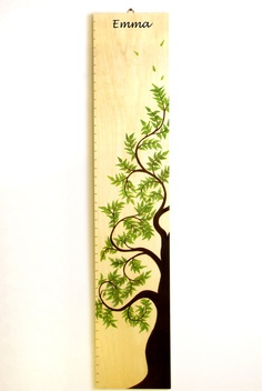 Tree of Life Wooden Growth Chart