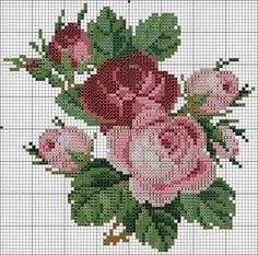 вышивка розы крестом схемы: 26 тыс изображений найдено в Яндекс.Картинках