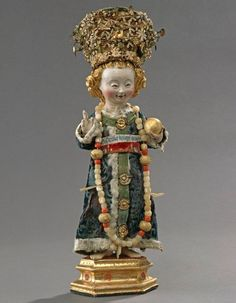 Anon. German, Christ Child with Garments and Crown, c. 1500. Polychromed wood and mixed media. From Heilig Kreuz convent in Rostock, Germany.