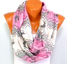 Scarf, Shawl, Nordic Scarf,Fall Fashion Accessories, Deer Patterned Scarf, Snowflake Pattern, Winterweight Shawl, Gift ideas for Christmas - pinned by pin4etsy.com