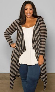 Jamie Knit Cardigan (Stripes) $49.90 by SWAK Designs
