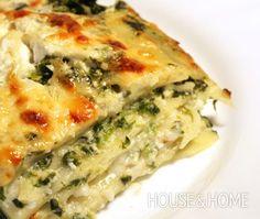 Spinach, Ricotta, & Pesto Lasagna