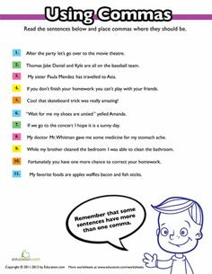 Comma Rules for Kids | homeschool | Rules for kids ...