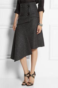 Pedro del Hierro Madrid|Camilo asymmetric wool skirt *Front view