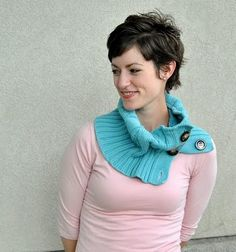 Cowl made from an old cardigan/sweater. Do I have any old things I could do this with??