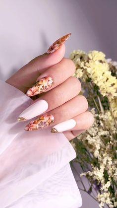 Nail Art Designs Videos, Nail Art Videos, Toe Nail Designs, Funky Nail Art, New Nail Art, Nail Art Diy, Best Toe Nail Color, Nail Colors, Acrylic Nails