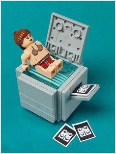 #Lego Princess Leia taking butt pictures on the copy machine.  Shame on you, Princess Leia! #StarWars