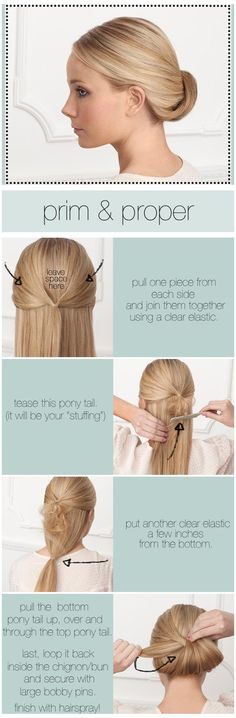 Hair Style How To - very pretty! #fashion #beauty #tutorial