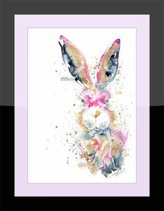 Printed to a high standard using the latest Epson Ink technology that's made to last. Epson Ink, Hare, Fine Art Prints, Color, Bunny, Art Prints, Colour, Rabbits, Colors
