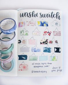 Bullet Journal Project Planning, Bullet Journal Ideas Pages, Bullet Journal Inspiration, Washi Tape Notebook, Bullet Journal Washi Tape, Bullet Journals, Washi Tape Storage, Washi Tape Crafts, Washi Tapes