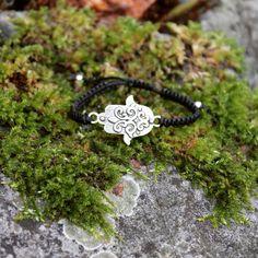 #pulseira #macrame #bracelet #hamsa Hamsa, Instagram, Bracelets, Leather, Handmade, Crafts, Jewelry, Hand Made, Manualidades