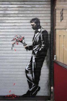graffiti artist Banksy, known for his subversive street art, released a two-minute video Wednesday from war-torn Gaza Banksy Graffiti, Street Art Banksy, Bansky, Geisha Art, Creation Art, Arte Pop, Art Graphique, Street Artists, Urban Art