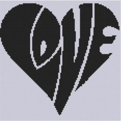 Love Heart Cross Stitch Pattern