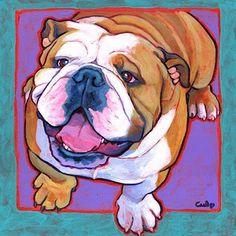 Bulldog (artwork by Linda Culp)