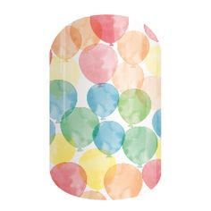 Celebrate your birthday in style with Jamberry's 'Up and Away' nail wrap! This design features watercolor-inspired balloons floating through the air. This colorful wrap makes the perfect manicure for any celebration!
