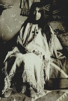 Geronimo's daughter, Lenna. Born in 1886 in Fort Marion, St. Augustine, FL, while her father was a prisoner there. Lenna was Bedonkohe-Mescalero.