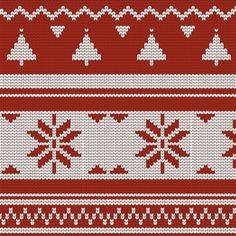 Christmas Knitting, Christmas Sweaters, Ribbon On Christmas Tree, Free Pattern, Vector Free, Xmas, Holiday Decor, Projects, Prints