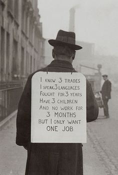 +~+~ Vintage Photograph ~+~+    Man during The Depression.