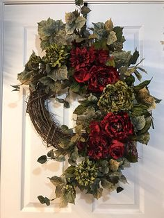 Peony Wreath, Front Door Wreath, Elegant Wreath, Grapevine Wreath - ПАСХА ДЕКУПАЖ И ДЕКОР - Wreaths For Front Door, Holiday Wreaths, Door Wreaths, Winter Wreaths, Spring Wreaths, Christmas Crafts, Christmas Decorations, Christmas Ornaments, Holiday Decor